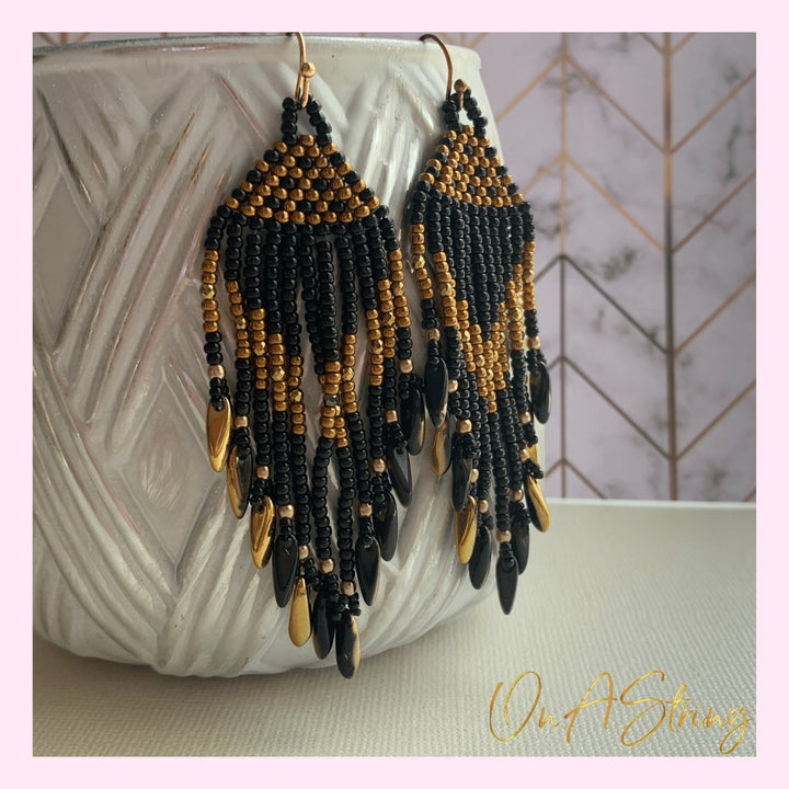 Flutter and Fringe Earrings - On A String