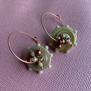 Glass Babies - Green - On A String