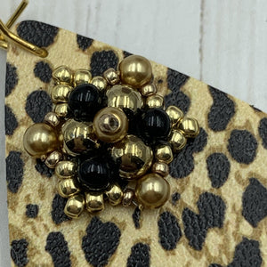 Golden Leopard Earrings - On A String