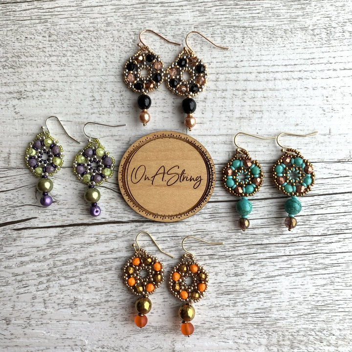 Harlequin Drop Earrings - On A String