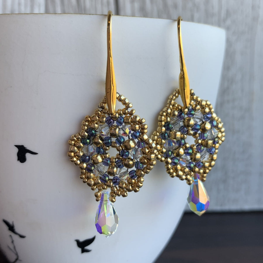 Hayley Crystal Earrings - On A String