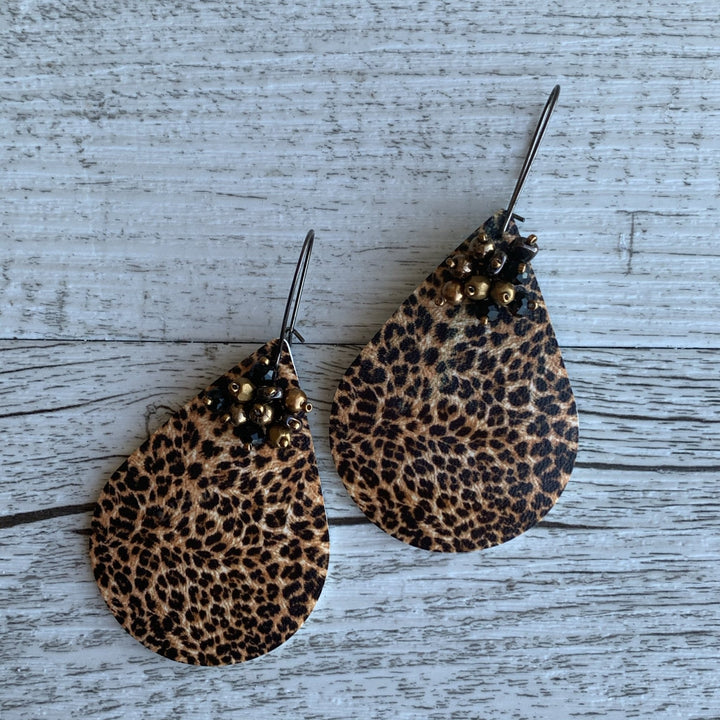 Leopard Print Earrings - On A String