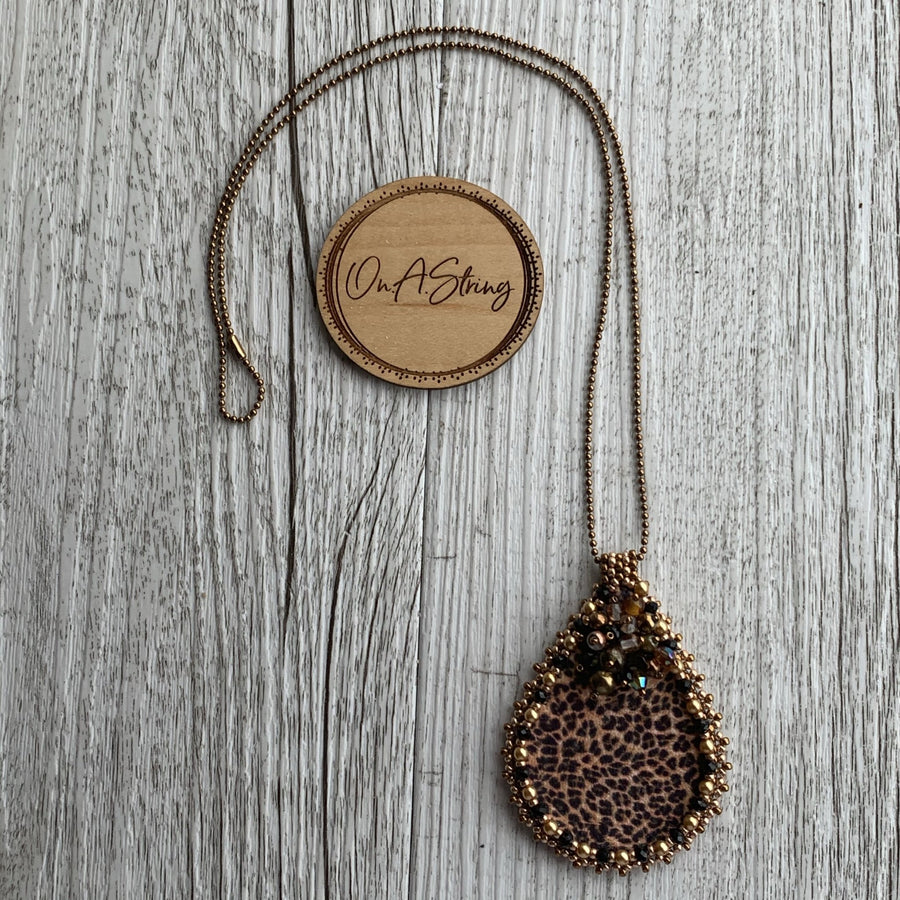 Leopard Print Pendant Necklace - On A String