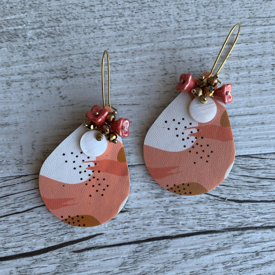 Orange Fizz Print Earrings - On A String