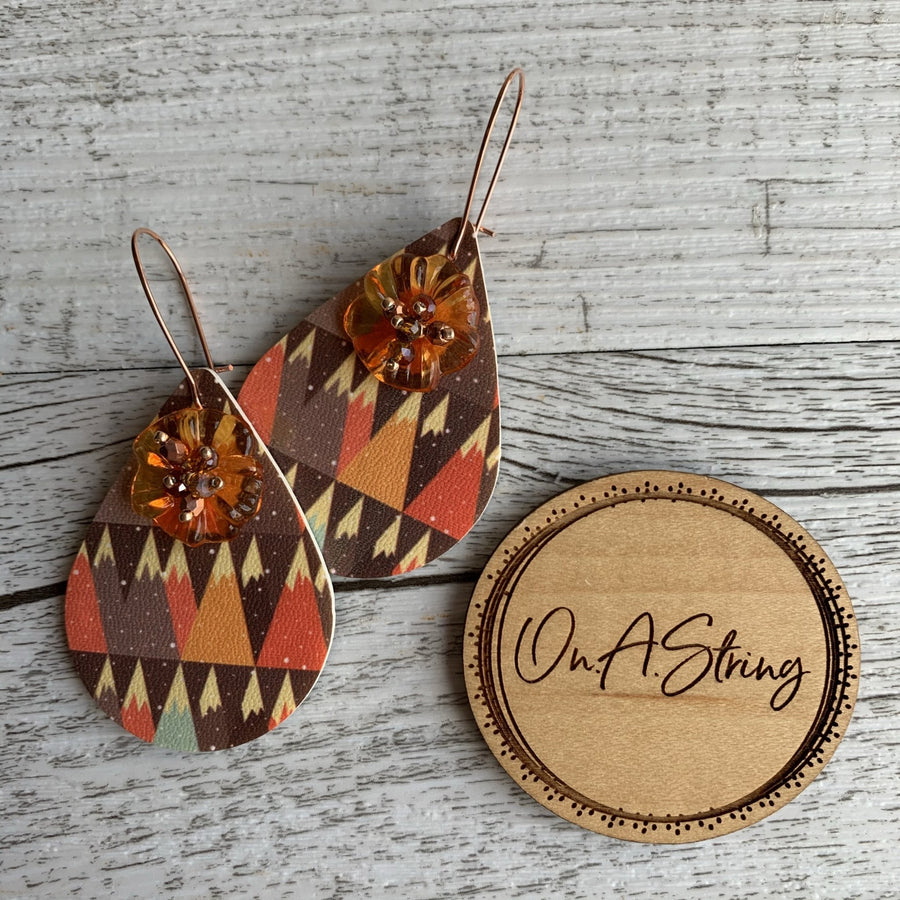Orange Forest Earrings - On A String