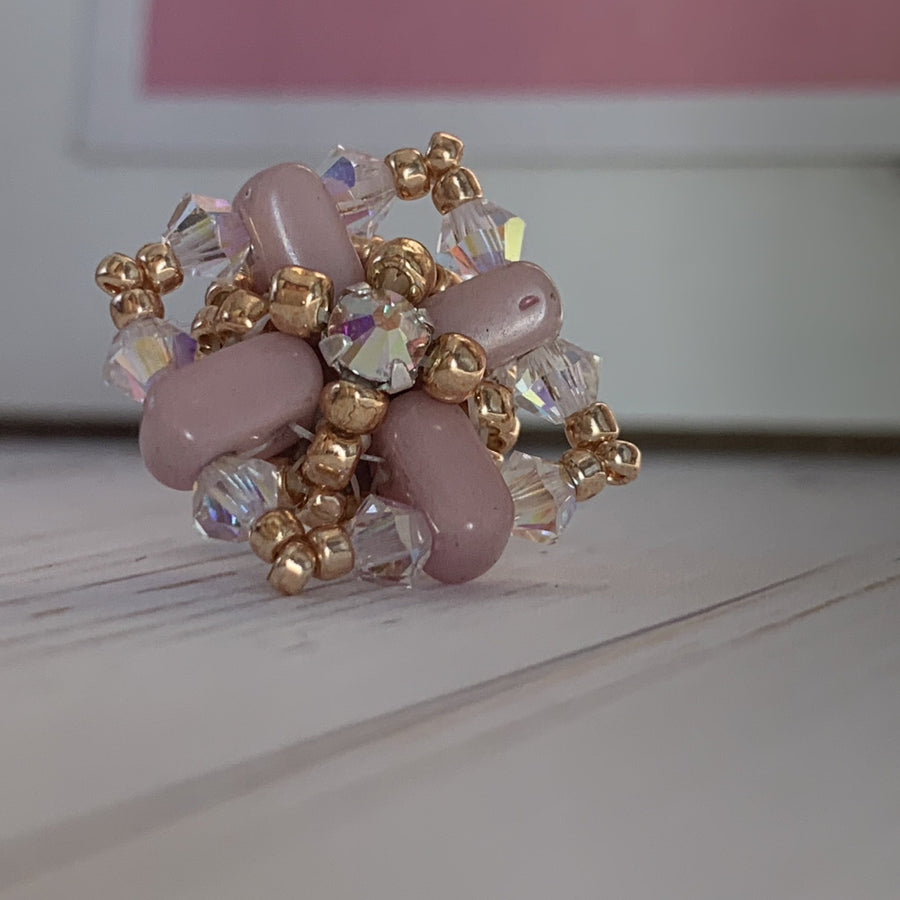 Pale Pink Stud Earrings - On A String