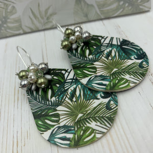 Palm Tree Print Earrings - On A String
