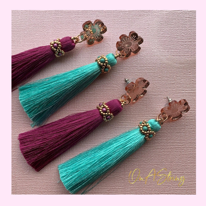 Petal Tassel Earrings - On A String