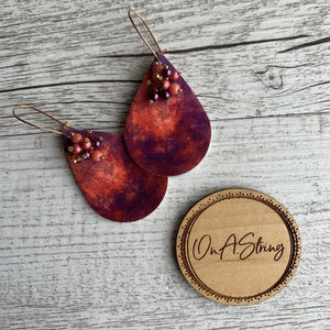 Purple Dream Earrings - On A String