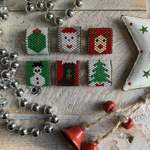 Santa Bead Tutorial - On A String