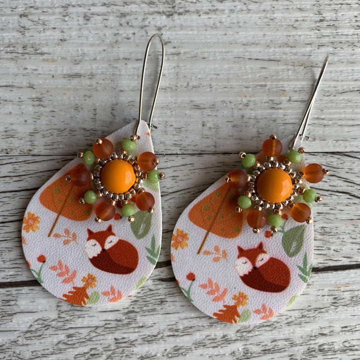 Scandi Fox Earrings - On A String