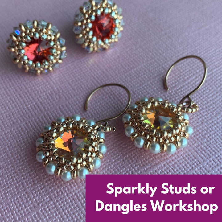 Sparkly Studs or Dangles Virtual Workshop (22nd November) - On A String