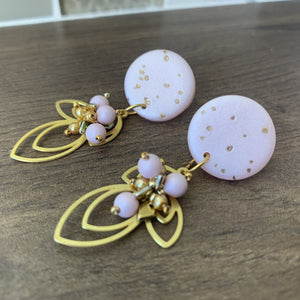 Speckled Pink Clay Stud Earrings - On A String