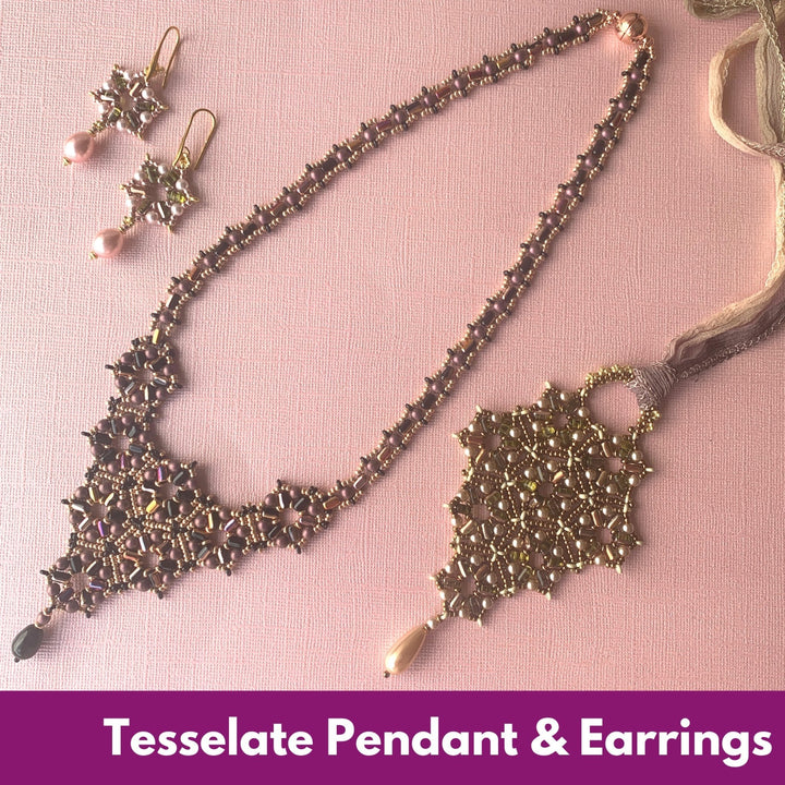 Tesselate Pendant & Earrings Virtual Workshop (5th & 12th December) - On A String