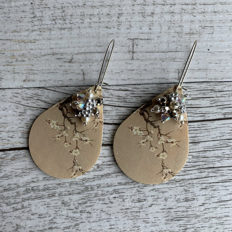 Winter Cherry Blossom Earrings - On A String
