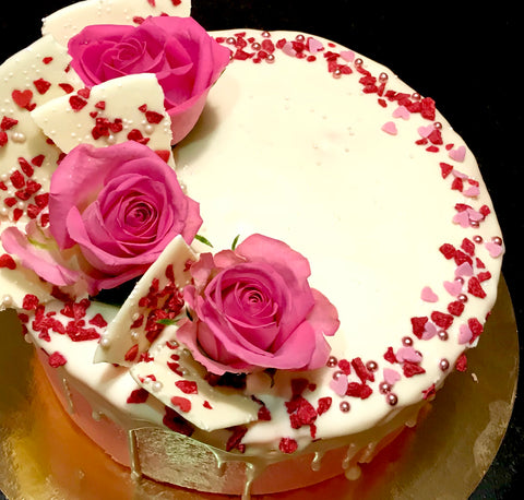 October Cake 10-12p, Filled with extra love and 10% goes to charity