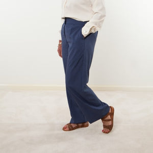 Womens Blue Print Pants