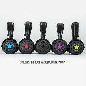 Black Market ML101 Headphones - In 5 colours
