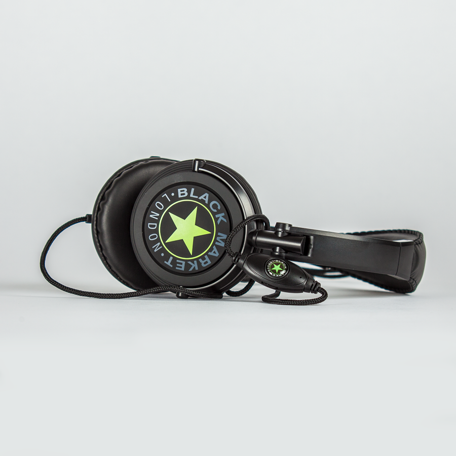 Black Market ML101 Headphones - Lime Green