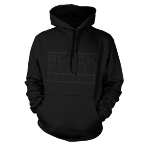 Black Market Records Classic Hoody - Black on Black