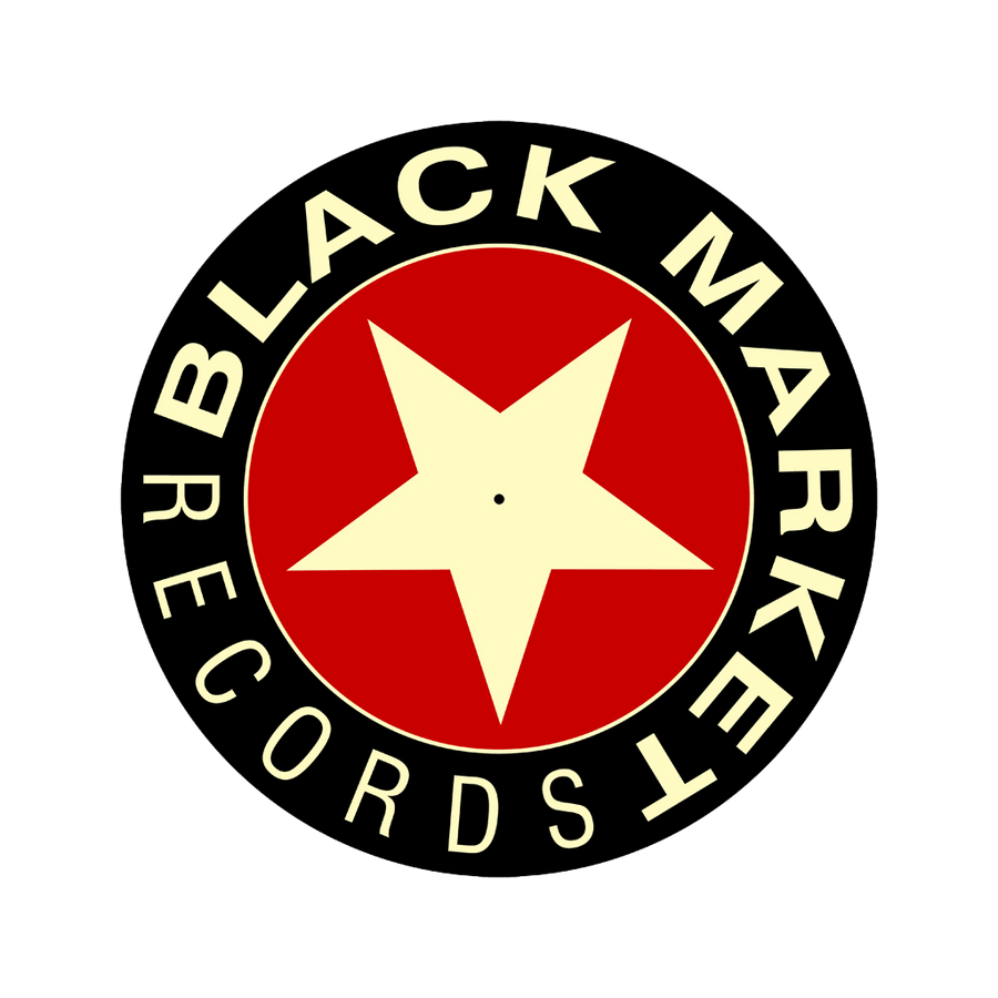 Black Market Records Slipmats - Black/Red/Cream