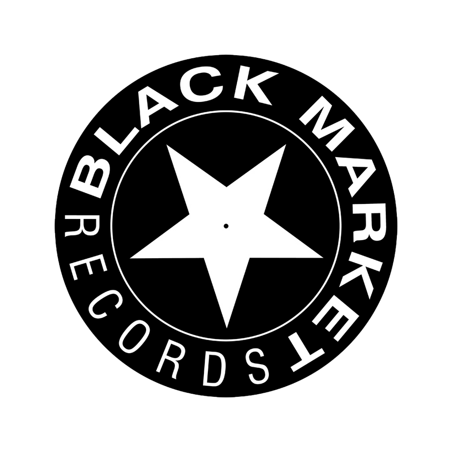 Black Market Records Slipmats - Black/White