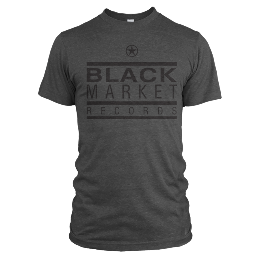 Black Market Records Classic T-Shirt - Heather Grey