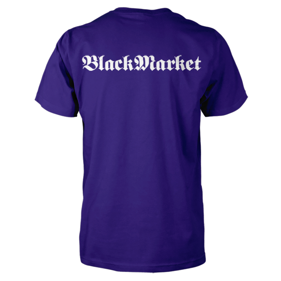 Black Market Gothic T-Shirt - Purple (back)