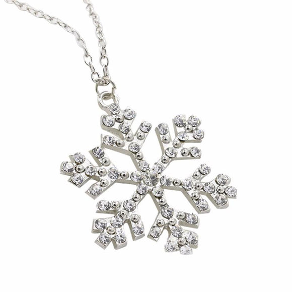 Rhinestone Snowflake Necklace