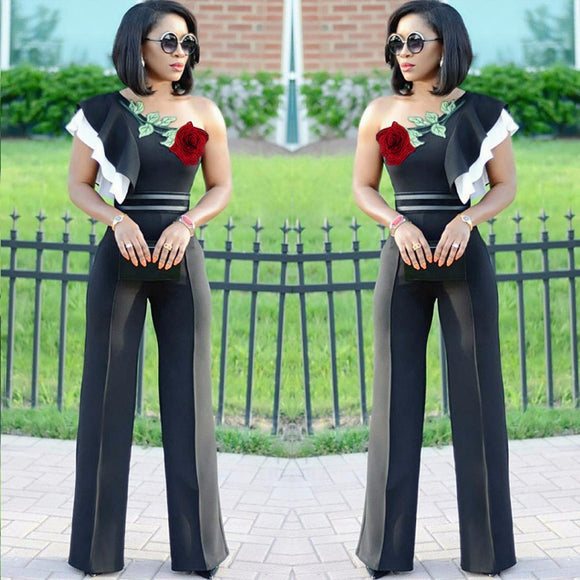 Womens Embroidery  Casual Jumpsuit