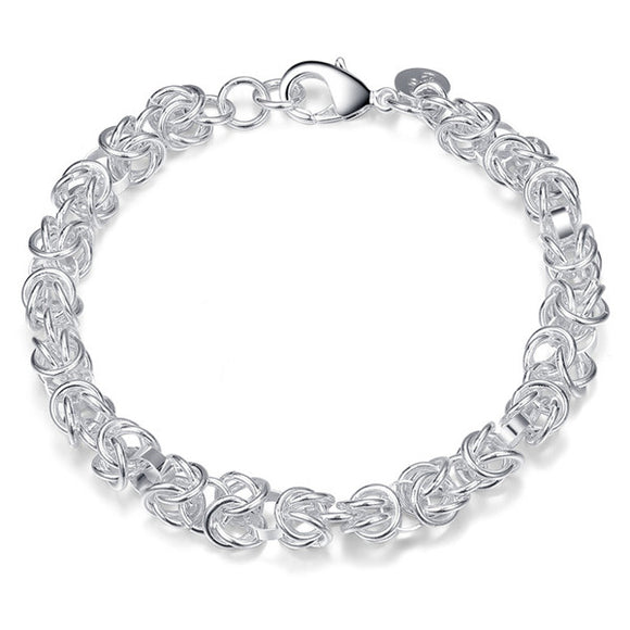 Silver Intricate Chain Bracelet