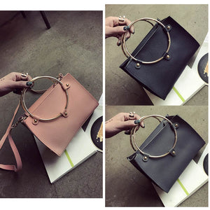 Women Metal Ring Handbag