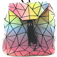 Luminous Diamond Geometric Backpack/Purse (Luminous Dark/Luminous Pastel)