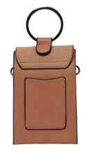 Kaylee top handle cellphone pouch with ring handle (Mistyrose)