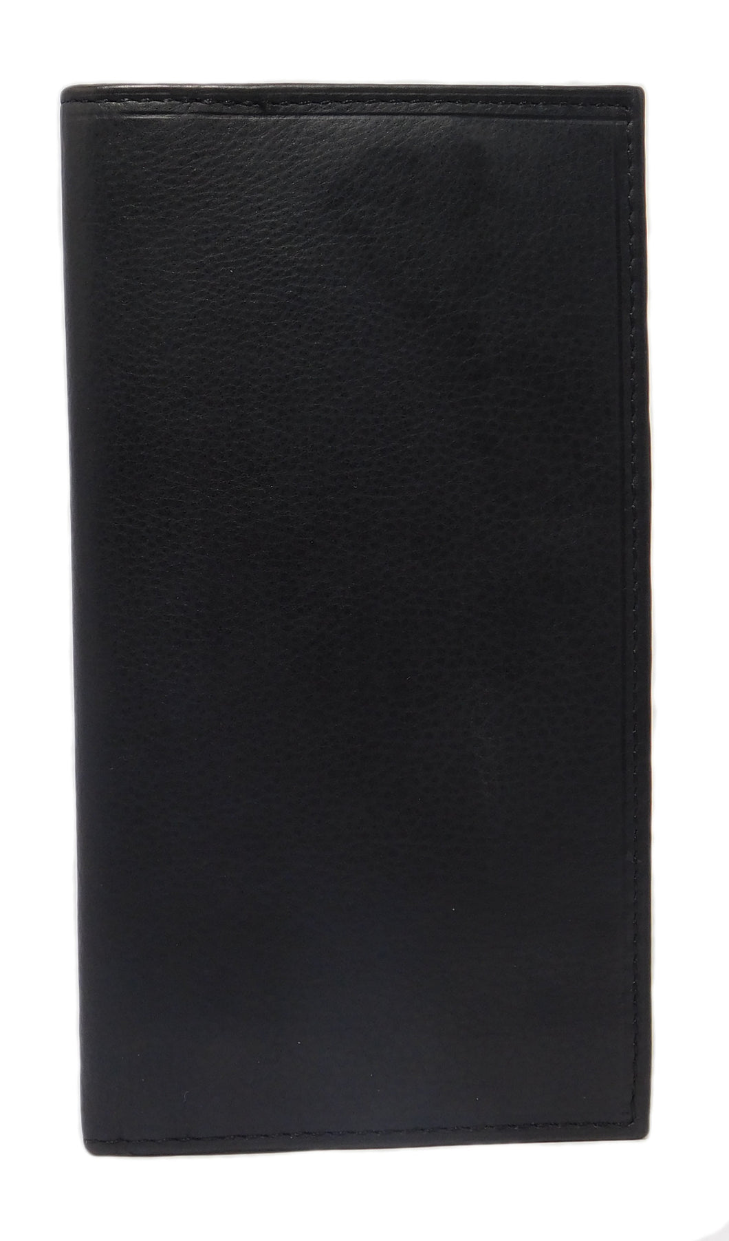 Paul & Taylor Leather Checkbook Wallet Men Or Women RFID Protection - Black
