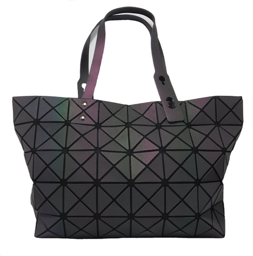 The Joy Collection Women's Diamond Geometric Luminous Tote Bag