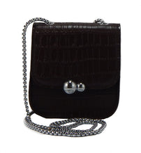 Snakeskin Embossed Crossbody/Shoulder Mini-Purse (Navy/White/Black/Brown/Grey/Latte)