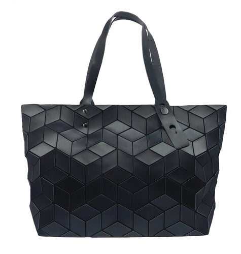 The Joy Collection Women's 3-D Geometric Blocks Tote Bag - Black