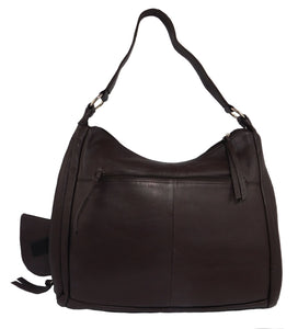 Paul & Taylor Ladies Leather Concealed Carry Purse 43202 (Brown)
