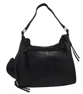 Paul & Taylor Ladies Leather Concealed Carry Purse 43202 (Black)
