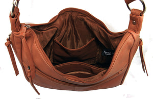 Paul & Taylor Ladies Leather Concealed Carry Purse 43202 (Camel)
