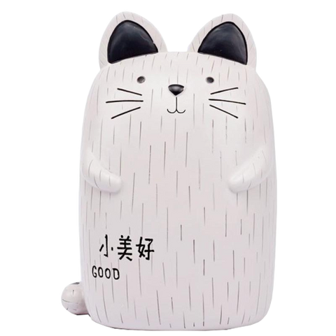 Tirelire Chat<br> Écriture Japonaise - tirelire-shop.com