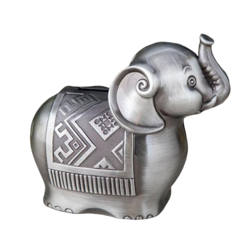 Tirelire Enfant<br> Éléphant Gris - tirelire-shop.com