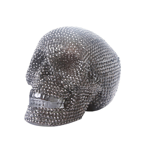 Tirelire Originale<br> Tête De Mort Strass - tirelire-shop.com