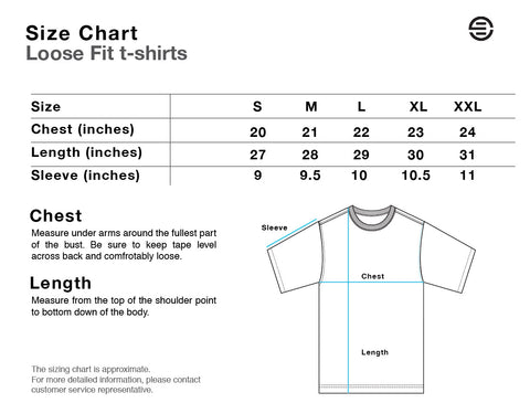 Eversince Loose Fit Size Chart