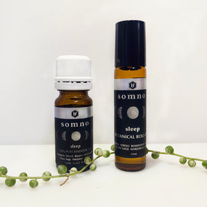 SOMNO (sleep) Botanical Roll On & Essential Oil Set