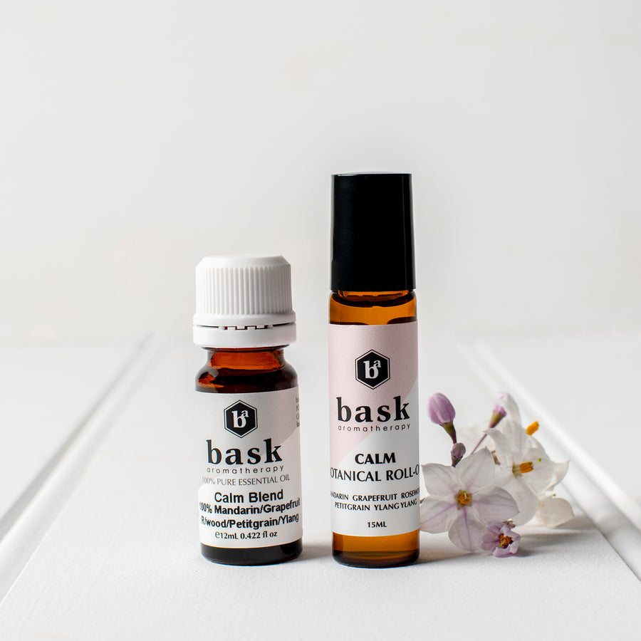 Calm Botanical Roll On & Essential Oil Set