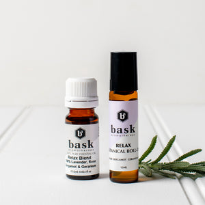 Relax Botanical Roll On & Essential Oil Set