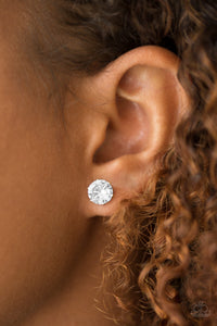 "Paparazzi Earrings ""Just Timeless"" Studs - CZ Rhinestone - Gold or Silver"