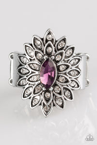 "Paparazzi Ring ""Blooming Fireworks"" - Purple"
